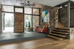 Glass Wall and Custom Entry Door